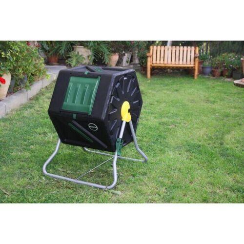 Single Chamber Compost Tumbler 27.7 Garden Grow Waste Bin Fertile Soil Outdoor