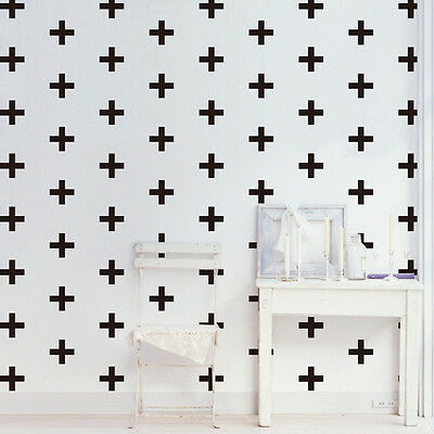 40Pcs Plus Cross Wall Stickers Vinyl Decal Removable Kid Nursery Decor Art Mural