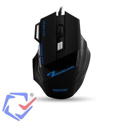 Optische Gaming-Maus Mause 7 Tasten PC 3200DPI USB LED-Beleuchtung für Spieler