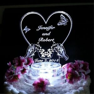 acrylic wedding cake toppers monogram butterfly lighted wedding cake topper lit acrylic 10538