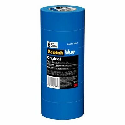 Original 3m Scotch Blue 1.88 In. X 60 Yds. Multi-surface Painters Tape - 6 Pk