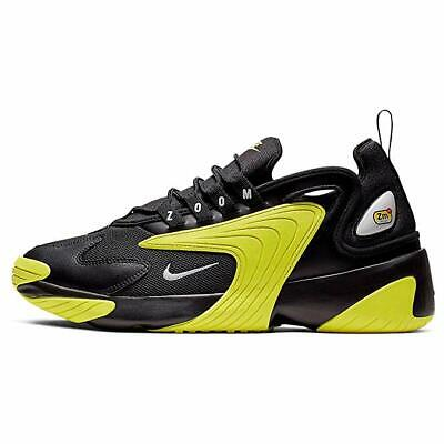 NEW MEN'S NIKE ZOOM 2K TRAINERS SHOES SNEAKERS BLACK/YELLOW SZ 13 A00269 006