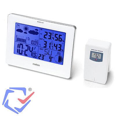 Funk Wetterstation Außen-Sensor Wetterprognose Hygrometer Thermometer DCF Wecker