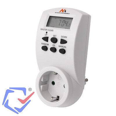 Maclean Temporizador eléctrico digital diario semanal 220/240V 16A 160 Programas