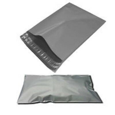 300 BAGS - 10 x 14 STRONG POLY MAILING POSTAGE POSTAL QUALITY SELF SEAL GREY