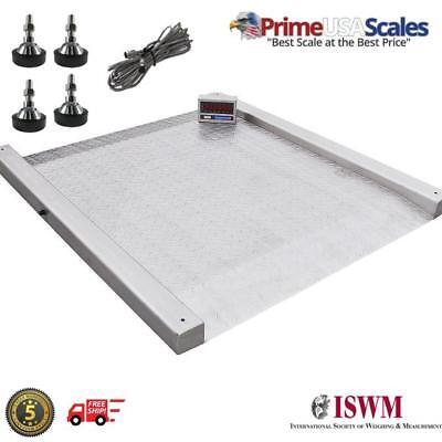 2500 Lb Stainless Steel Floor Scale 48 X 47 Pallet Drum Scale 5 Year Warranty