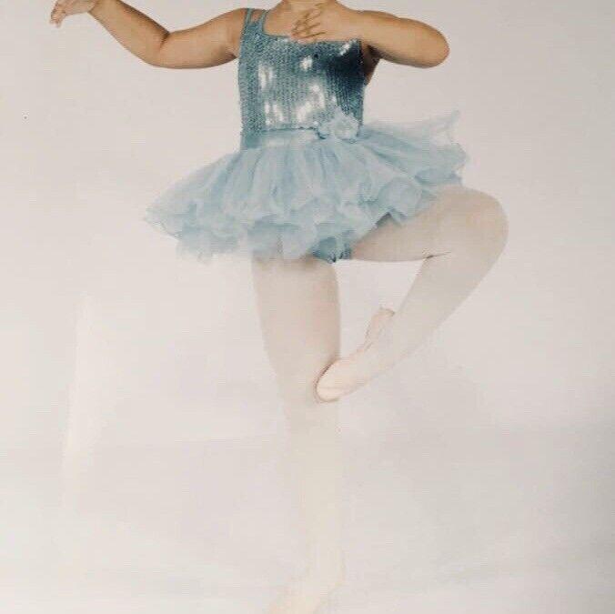 Double Platinum Performance Girls Dance Ballet Costume Size L
