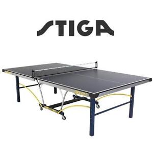 NEW STIGA TRIUMPH TABLE TENNIS T8780Q 142848971 T8780Q PING PONG PADDLE TEAM SPORT TABLE TENNIS TABLE WITH QUICK PLAY...