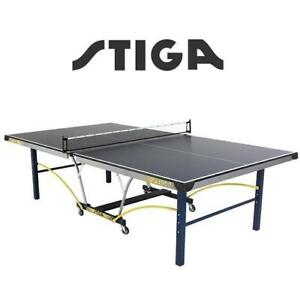 NEW* STIGA TRIUMPH TABLE TENNIS T8780Q 212450575 T8780Q PING PONG PADDLE TEAM SPORT TABLE TENNIS TABLE WITH QUICK PLA...