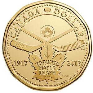 Toronto maple leafs 100 year commemorative loonie