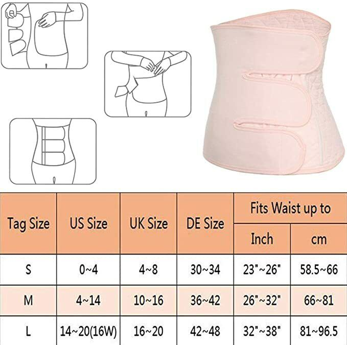 Women Binder Postpartum Support Girdle Recovery Belly Wrap