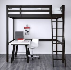 Ikea wooden loft bed frame