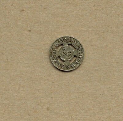 Pre-1930 Chicago, IL Surface Lines Transit Trolley Token - Illinois Ill.