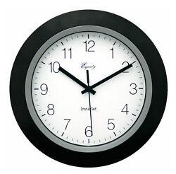 Equity by La Crosse 10 Inch Instaset Wall Clock Indoor Black Ship from US Seller