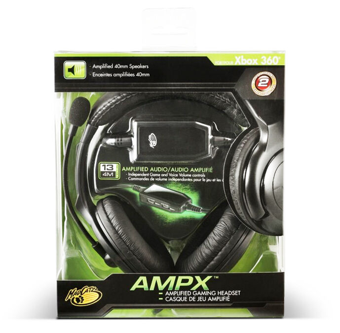 Madcatz XBOX 360 AMPX Amplified Gaming Headset Boom Micropho