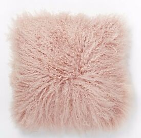 Brand New Sheepskin Cushion - Rose colour