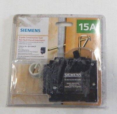 Siemens Q215afc Combination Arc Fault Circuit Breaker 2 Pole 15 Amp 120240v New