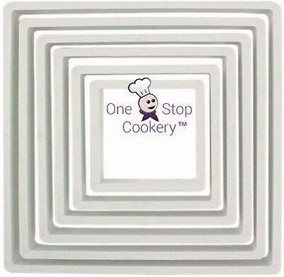 PME 6 SQUARE Cupcake Cutters - Sugarcraft Fondant - Cookie  - Biscuit