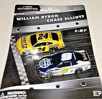 NASCAR AUTHENTICS 2019 1/87 #24 WILLIAM BYRON & #9 CHASE ELLIOTT 2 CARS WAVE 2