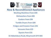 Dorset Domestic Appliance Washing Machine Fridge Freezer Cooker Oven Tumble Dryers Vacuum Dishwasher