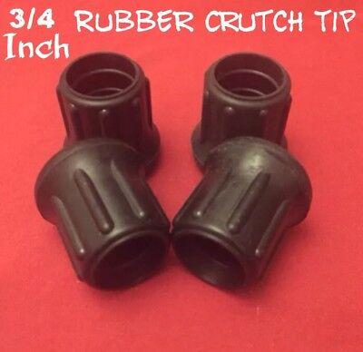 (1) NEW 3/4 Inch  Rubber Crutch, Cane, Walking Stick, Furniture Tip ()