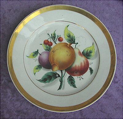 Alter Porzellanteller handbemalt Biedermeierzeit um 1830