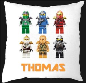 PERSONALISED LEGO NINJAGO CUSHION COVER ONLY
