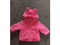 Mothercare Pink Fur Jacket - 0-3 months