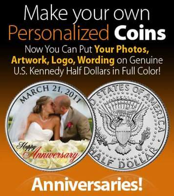 Wedding Gift on REAL COIN Personalized JFK Half Dollar Legal Tender UNIQUE - Personalized Wedding