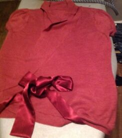 Dorothy Perking wrap over cardigan size 12