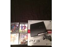 PS3 320gb + 4 games excellent condition