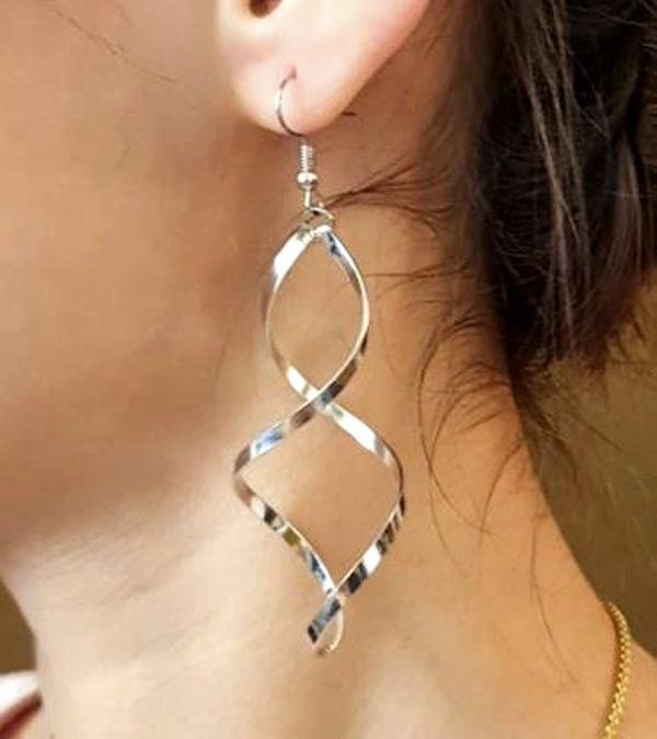 925 Silver Plated Lightening ZZ Dangle Drop Hook Fashion Earrings UK Seller