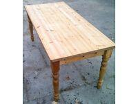 farmhouse table 6ft x 3ft poss shabby chic