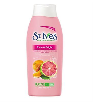 St. Ives Even and Bright Body Wash, Pink Lemon and Mandarin
