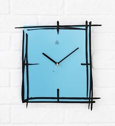 Modern Art Wall Clock Steel Design Home Decor Interior Contemporary High Quality