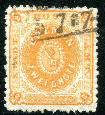 BREMEN 1866 10a gestempelt schöne Marke 450€(Z2749