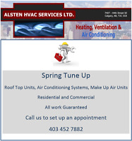Spring Tune Up On: Roof Top Units and Air Conditioning Units