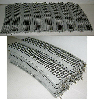 LIONEL #12041 FASTRACK FAST TRACK 16 PIECES O72 O-72 CURVED CIRCLE O GAUGE TRAIN