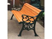 Flur-de-Lis cast iron bench