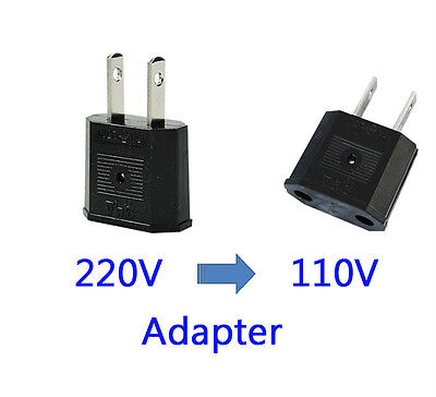 110V Plug Adapter Travel Converter US Canada to EU Europe AC Adapter Round 1EA