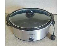 Crockpot slow cooker, 6.5L. Used once