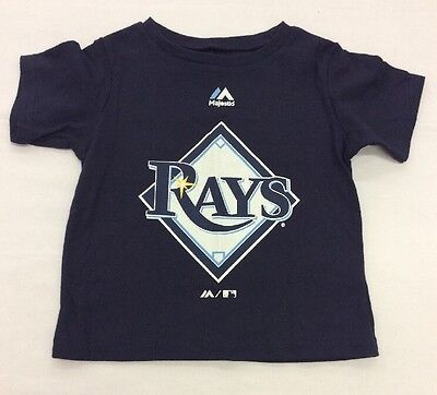 Majestic Toddler MLB Tee Shirt With Large Logo, Tampa Bay Devil Rays