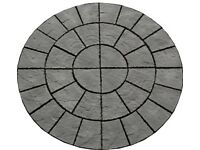 Charcoal Patio Paving 6ft Circle Focal Feature Point