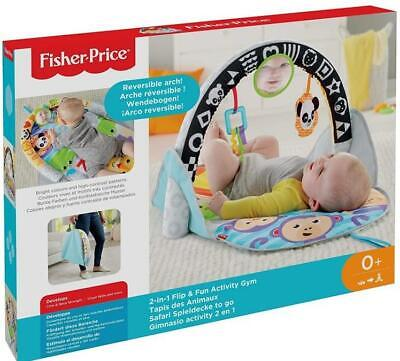 Fisher Price Infant 2 in 1 Flip & Fun Activity Gym Baby Play Mat - New in Box