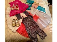 Baby Girl 6-9 Month Designer - Calvin Klein - Bundle Dresses - Playsuit - Shoes