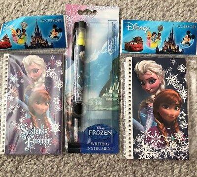 Frozen Party Items (Disney Frozen, 3 Items, 2 Small Notepads, Pen/highlighter, Party,School)