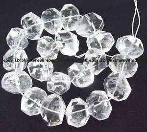 15x17x23mm-Natural-white-crystal-freeform-faceted-loose-Beads-14