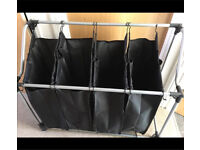 Large laundry basket - 4 sorting compartments