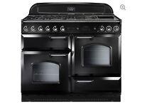 Rangemaster Classic 110 Black & Chrome Dual Fuel Cooker