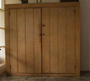 Large solid antique pine cabinet